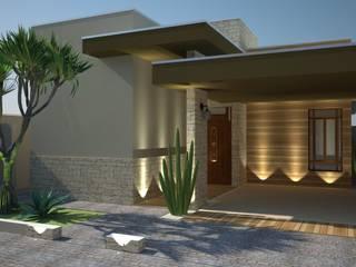 Casas de estilo rústico de VIVRE | Arquitetura em São José do Rio Preto - SP Rústico
