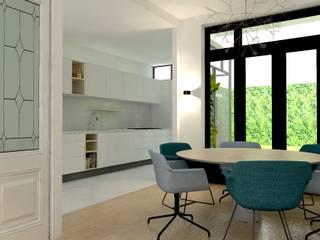 Nhà bếp phong cách hiện đại bởi Stefania Rastellino interior design Hiện đại