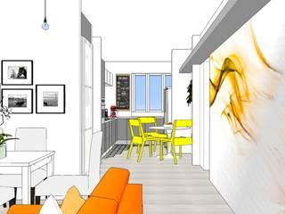 Il living:  in stile  di Patrizia Burato Architetto