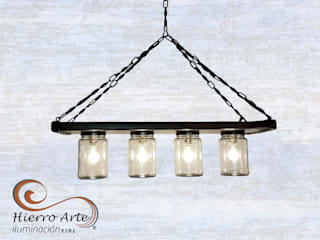 Lámparas vintage:  de estilo  por Hierro Arte Iluminación EIRL