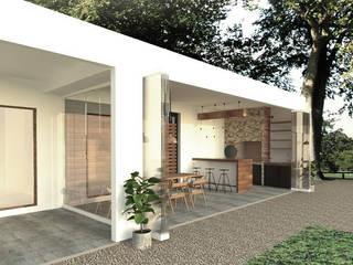 Casa Chicureo Balcones y terrazas modernos de EnVoga Moderno