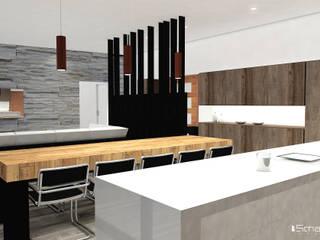 Cocina/comedor: Cocinas de estilo moderno por Smartlive Studio