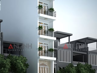 Mẫu nhà phố -  TRẦN TÔ HẢO:   by CÔNG TY THIẾT KẾ XÂY DỰNG AN LĨNH