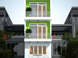 Mẫu nhà phố -  TÔ KIM QUỲNH:   by CÔNG TY THIẾT KẾ XÂY DỰNG AN LĨNH