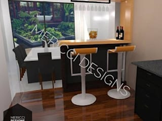 One Story Kitchen Design:   by MERICCI DESIGNS (FREELANCER)
