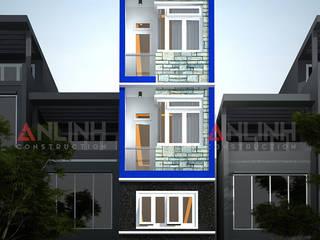 Mẫu nhà phố - ĐOÀN THỊ LOAN:   by CÔNG TY THIẾT KẾ XÂY DỰNG AN LĨNH