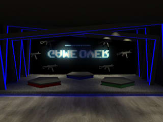 Alien bug shooter game:  Commercial Spaces by Freelance designer