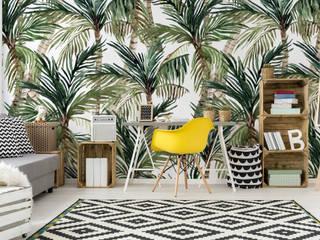Fototapeta egzotyczne palmy: styl , w kategorii  zaprojektowany przez MYLOVIEW
