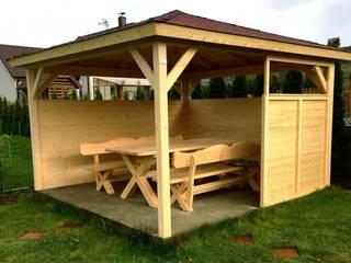 Altana ogrodowa drewniana : styl , w kategorii  zaprojektowany przez Geisser Sp z o.o.
