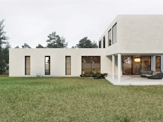 Nhà có sân thượng theo Tobi Architects, Tối giản