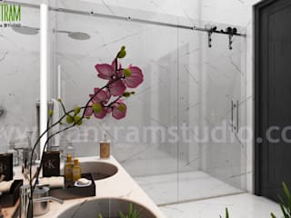 Modern Style House Design Ideas & Pictures by Yantram architectural design studio - Boston, USA Modern Banyo Yantram Architectural Design Studio Modern