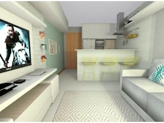 Apartamento LB: Salas de estar  por Studio Elabora