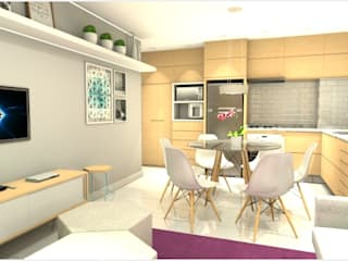 Apartamento AM: Salas de jantar  por Studio Elabora