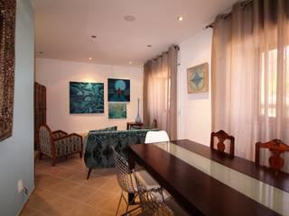 Casa Rocha-Vintage Algarvio Salas de estar mediterrânicas por Atelier Ana Leonor Rocha Mediterrânico
