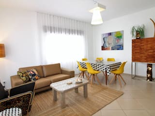 Casa Antonica -Praia do Castelo Albufeira Salas de estar mediterrânicas por Atelier Ana Leonor Rocha Mediterrânico