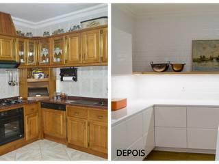 Remodelação total de cozinha em Paredes por Tangerinas e Pêssegos - Design de Interiores & Decoração no Porto Moderno