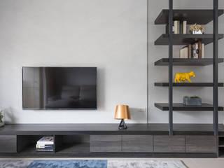沐意 寬宸室內設計有限公司 现代客厅設計點子、靈感 & 圖片 Grey