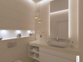Minimalist design apartment dal design office Bagno minimalista