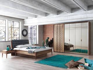 NILL'S FURNITURE DESIGN – Piazza Yatak Odası:  tarz