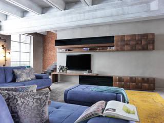 NILL'S FURNITURE DESIGN – PRALIN TV ÜNİTESİ: modern tarz , Modern