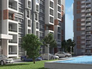 Dündar Design - Mimari Görselleştirme – 4 Blok Konut:  tarz Evler