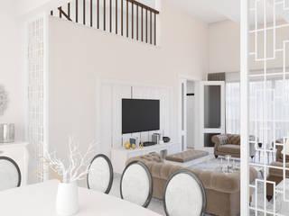 Dündar Design - Mimari Görselleştirme – Villa - İç Mekan:  tarz Yemek Odası