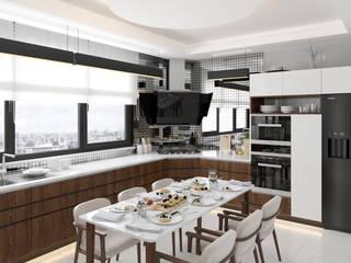 Villa - İç Mekan Modern Mutfak Dündar Design - Mimari Görselleştirme Modern