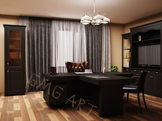 Дизайн-проект кабинета, визуализация:  в . Автор – GMG-3-ART