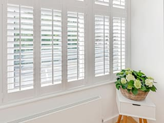 Beautiful Tier on Tier Shutters at a home in the Heart of Crystal Palace Plantation Shutters Ltd Kamar Tidur Modern Kayu White
