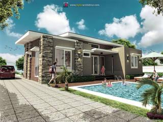 Tampak villa 3:   by bplusarsitektur