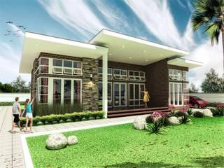 Tampak villa 1:   by bplusarsitektur