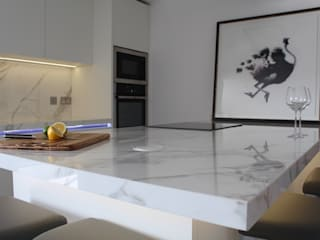 Docklands apartment Cocinas de estilo minimalista de Place Design Kitchens and Interiors Minimalista