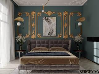 Неоклассика в спальне.: Спальни в . Автор – Студия дизайна Сергея Выборнова