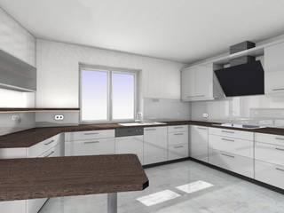 Entwurf Einbauküche mit Hochglanzfronten und lackierter Glasrückwand Bau- und Möbelschreinerei Mihm GmbH & Co. KG