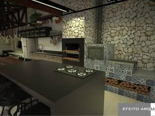 Espaço Gourmet AN Cozinhas rústicas por Efeito Arquitetura Rústico