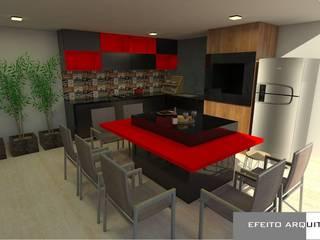 Apartamento RD Cozinhas modernas por Efeito Arquitetura Moderno