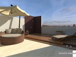 Apartamento RD Varandas, alpendres e terraços modernos por Efeito Arquitetura Moderno