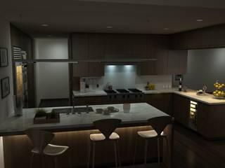 Kitchen by skywalkinteriors