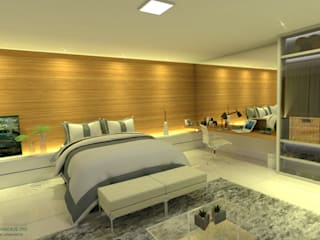 ITOARQUITETURA BedroomLighting MDF Amber/Gold