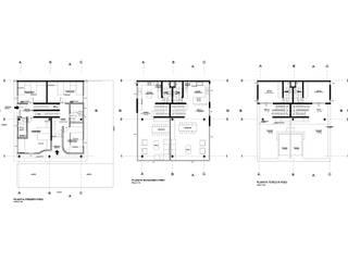 Plantas: Condominios de estilo  por AREA - arquitectura y construcción
