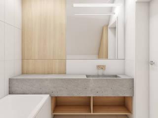 Łazienka: styl , w kategorii Sypialnia zaprojektowany przez MACZ Architektura - Architekt wnętrz Kraków