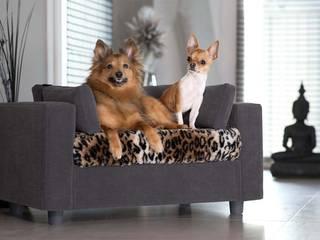 Couchage pour chiens Haut de gamme Gris - Pack Calin - Taille S - Plaid Tigré:  de style  par GIUSYPOP