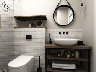 Femberg Architektura Wnętrz Scandinavian style bathroom White