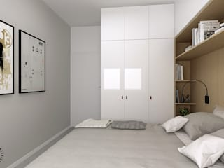 Femberg Architektura Wnętrz Minimalist bedroom White