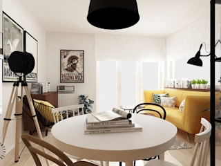 Femberg Architektura Wnętrz Living room Yellow