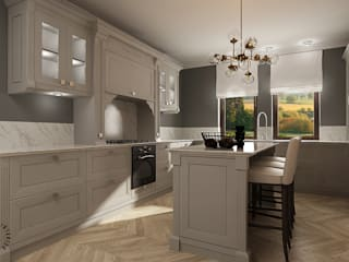 Femberg Architektura Wnętrz Built-in kitchens Grey