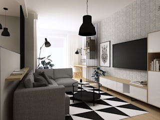 Femberg Architektura Wnętrz Modern Living Room Black