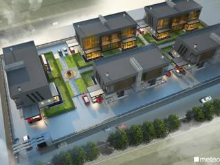 Meteor Mimarlık & Tasarım – VİLLA - ATRiUM:  tarz Villa