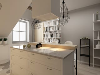 Femberg Architektura Wnętrz Built-in kitchens White