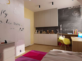 Femberg Architektura Wnętrz Girls Bedroom Multicolored